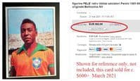 1965 Pelé Panini clean back but faults to front Low price sold on EB for $600+